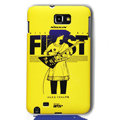 Nillkin Unique Hard Cases Skin Covers for Samsung Galaxy Note i9220 N7000 i717 - Yellow (High transparent screen protector)