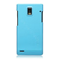 Nillkin Colorful Hard Cases Skin Covers for Huawei U9200 Ascend P1 - Blue (High transparent screen protector)
