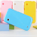 Nillkin Colorful Hard Cases Skin Covers for Lenovo LePhone A580 S850e - Blue (High transparent screen protector)
