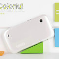 Nillkin Colorful Hard Cases Skin Covers for Lenovo LePhone A580 S850e - White (High transparent screen protector)