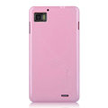 Nillkin Colorful Hard Cases Skin Covers for Lenovo LePhone K860 - Pink (High transparent screen protector)