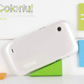 Nillkin Colorful Hard Cases Skin Covers for Lenovo LePhone S680 - White (High transparent screen protector)