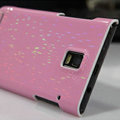 Nillkin Dynamic Color Hard Cases Skin Covers for Huawei U9200 Ascend P1 - Pink (High transparent screen protector)
