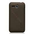 Nillkin Super Matte Hard Cases Skin Covers for Huawei C8810 - Brown (High transparent screen protector)