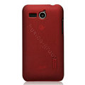 Nillkin Super Matte Hard Cases Skin Covers for Huawei C8810 - Red (High transparent screen protector)