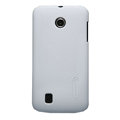 Nillkin Super Matte Hard Cases Skin Covers for Huawei T8830 Ascend G309T - White (High transparent screen protector)