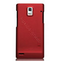 Nillkin Super Matte Hard Cases Skin Covers for Huawei U9200 Ascend P1 - Red (High transparent screen protector)