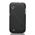 Nillkin Super Matte Hard Cases Skin Covers for Lenovo LePhone A580 S850e - Black (High transparent screen protector)