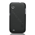 Nillkin Super Matte Hard Cases Skin Covers for Lenovo LePhone S680 - Black (High transparent screen protector)