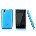 Nillkin Super Matte Rainbow Cases Skin Covers for Amoi N79 - Blue (High transparent screen protector)