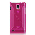 Nillkin Super Matte Rainbow Cases Skin Covers for Huawei U9200 Ascend P1 - Pink (High transparent screen protector)