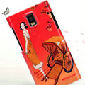Nillkin Unique Hard Cases Skin Covers for Huawei U9200 Ascend P1 - Orange red (High transparent screen protector)