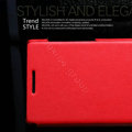 Nillkin leather Cases Holster Covers for Huawei U9200 Ascend P1 - Red (High transparent screen protector)