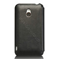 Nillkin leather Cases Holster Covers for MEIZU MX - Black (High transparent screen protector)