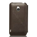 Nillkin leather Cases Holster Covers for MEIZU MX - Brown (High transparent screen protector)