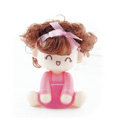Car decoration Auto accessories ornaments dimensional Moss shook his head doll - Pink girl
