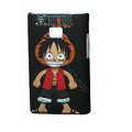 Cartoon Luffy Matte Cases Hard Covers for LG Optimus L3 E400 - Black