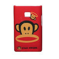 Cartoon Paul Frank Matte Cases Hard Covers for LG Optimus L3 E400 - Red