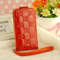 GUCCI leather Cases Luxury Holster Skin Covers for iPhone 5 - Red