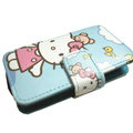 Hello kitty Side Flip leather Cases Holster Covers for Sony Ericsson U5 U5i Vivaz - Blue