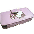 Hello kitty Side Flip leather Cases Holster Covers for Sony Ericsson U5 U5i Vivaz - Pink