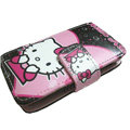 Hello kitty Side Flip leather Cases Holster Covers for Sony Ericsson U5 U5i Vivaz - Rose