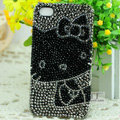Hello kitty diamond Crystal Cases Luxury Bling Hard Covers for iPhone 5 - Grey