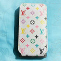 LV LOUIS VUITTON Flip leather Cases Holster Covers for iPhone 3G/3GS - White