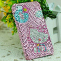 Luxury Bling Hard Covers Hello kitty diamond Crystal Cases for iPhone 5 - Pink