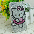 Luxury Bling Hard Covers Hello kitty diamond Crystal Cases for iPhone 5 - White