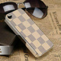 Luxury LV LOUIS VUITTON Ultrathin Metal edge Hard Back Cases Covers for iPhone 5 - Beige