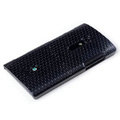 ROCK Jewel Hard Cases Skin Covers for Sony Ericsson LT28i Xperia ion - Black (High transparent screen protector)
