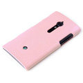 ROCK Jewel Hard Cases Skin Covers for Sony Ericsson LT28i Xperia ion - Pink (High transparent screen protector)