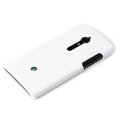 ROCK Jewel Hard Cases Skin Covers for Sony Ericsson LT28i Xperia ion - White (High transparent screen protector)