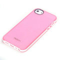 ROCK Joyful free Series Leather Cases Holster Covers for iPhone 5 - Pink