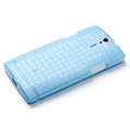 ROCK Magic cube TPU soft Cases Covers for Sony Ericsson LT26ii Xperia S - Blue (High transparent screen protector)