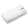 ROCK Magic cube TPU soft Cases Covers for Sony Ericsson LT26ii Xperia S - White (High transparent screen protector)