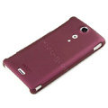 ROCK Naked Shell Hard Cases Covers for Sony Ericsson LT29i Xperia Hayabusa Xperia GX/TX - Red (High transparent screen protector)