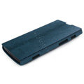 ROCK Side Flip leather Cases Holster Skin for Sony Ericsson LT28i Xperia ion - Blue