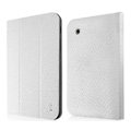 IMAK Slim leather Cases Luxury Holster Covers for Samsung Galaxy Tab2 P6200 P3110 P3100 - White