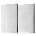 IMAK Slim leather Cases Luxury Holster Covers for The new iPad - White