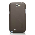 Nillkin Super Matte Hard Cases Skin Covers for Samsung N7100 GALAXY Note2 - Brown (High transparent screen protector)