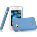 IMAK Cowboy Shell Quicksand Hard Cases Covers for BBK vivo S3 - Blue (High transparent screen protector)