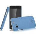 IMAK Cowboy Shell Quicksand Hard Cases Covers for Gionee GN320 - Blue (High transparent screen protector)