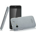 IMAK Cowboy Shell Quicksand Hard Cases Covers for Gionee GN320 - Gray (High transparent screen protector)