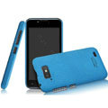 IMAK Cowboy Shell Quicksand Hard Cases Covers for Gionee GN700W - Blue (High transparent screen protector)