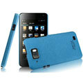 IMAK Cowboy Shell Quicksand Hard Cases Covers for Gionee GN868 - Blue (High transparent screen protector)