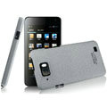 IMAK Cowboy Shell Quicksand Hard Cases Covers for Gionee GN868 - Gray (High transparent screen protector)