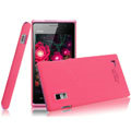 IMAK Ultrathin Matte Color Covers Hard Cases for BBK vivo S1 - Rose (High transparent screen protector)