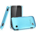 IMAK Ultrathin Matte Color Covers Hard Cases for BBK vivo i370 - Blue (High transparent screen protector)